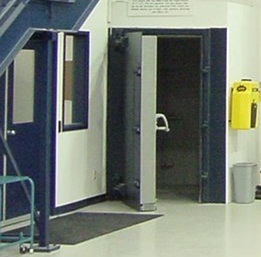 Sound rated personnel doors. Hinge mounted and fitted with 1 2 or 3 rows of perimeter sound seals. Thus providing sound transmission loss between STC-35 ... & Silentec doors